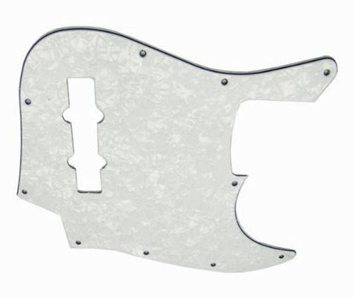 Escudo Baixo White Pearl Mod Fender Jazz Bass + 10 Parafusos
