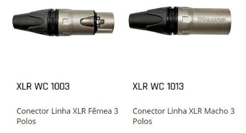 Cabo Santo Angelo Xlr Canon Balanceado Microfone 1 Mts Top