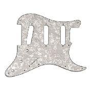 Escudo Guitarra Stratocaster Sss White Pearl