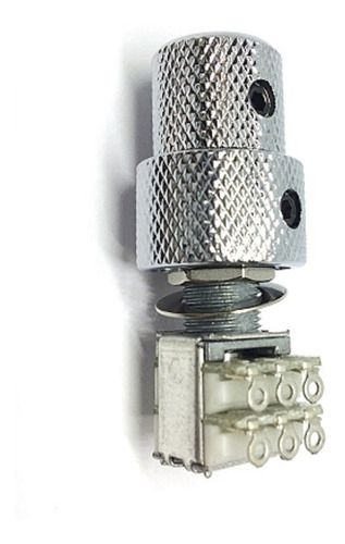 Knob Duplo cromado para Potenciômetro Concêntrico