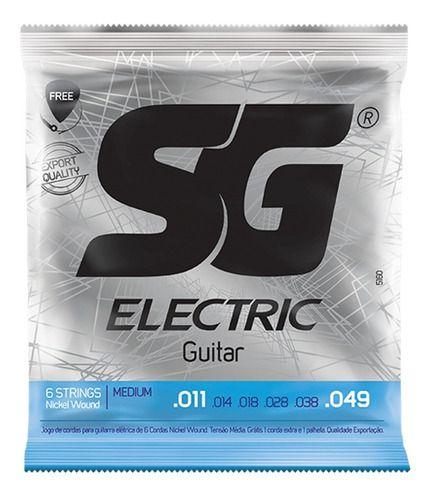 Encordoamento Guitarra Sg 011 Brinde 1 Palheta, 1 Corda Mi