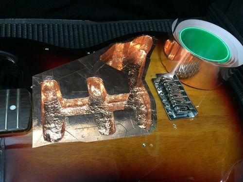 Fita Cobre Adesiva Blindagem Guitarra E Baixo 1 Metro X 5cm