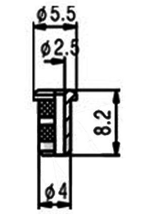 Bucha superior para corpo HS014