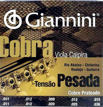 Encordoamento Giannini Cobra para viola caipira
