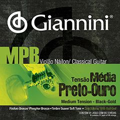 Encordoamento Giannini MPB para violão nylon