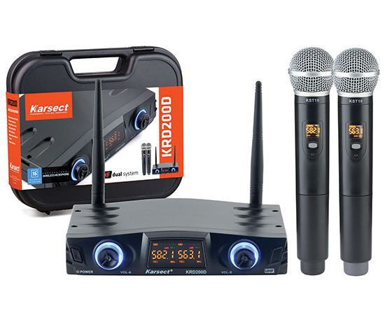 Microfone sem fio Karsect duplo KRD 200 DM