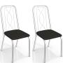 Conjunto 4 Cadeiras Kappesberg Viena Cromada