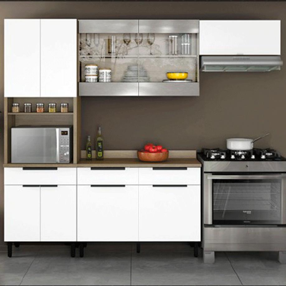 Armário de Cozinha Completa Itatiaia Itamaxi 9 Portas 3 Gavetas