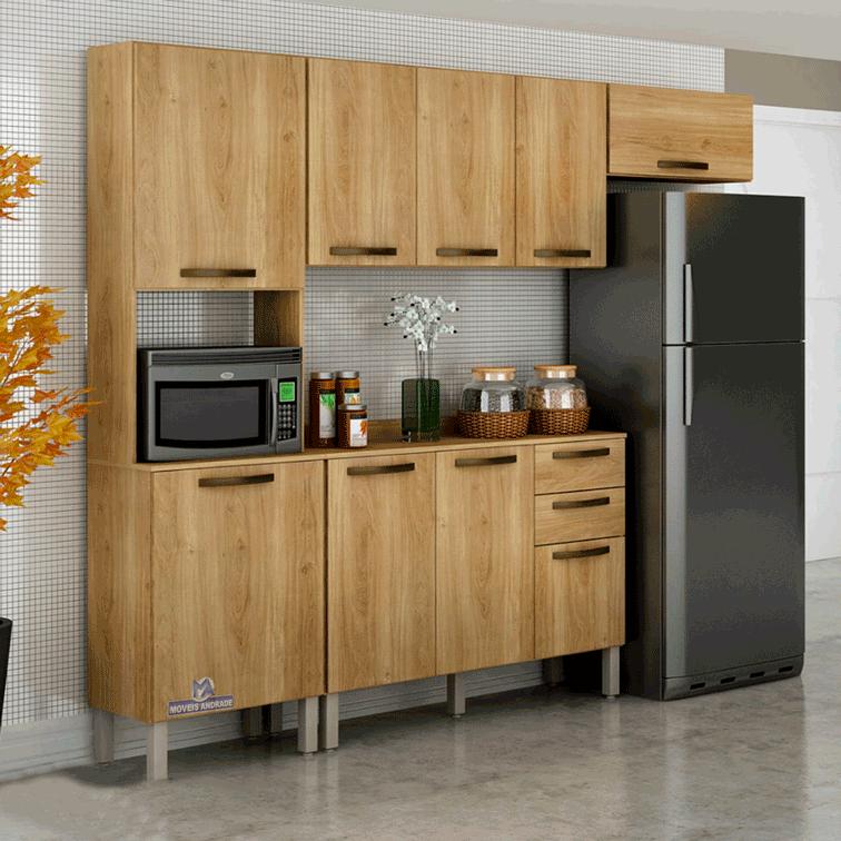 Armário de Cozinha Completa Salleto Valência 9 Portas 2 Gavetas