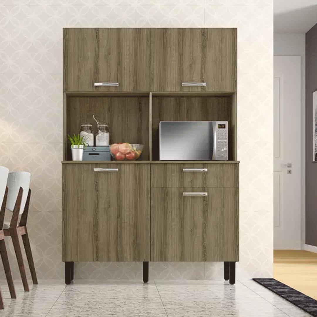 Armário de Cozinha Kit Itatiaia I1 4 Portas 1 Gaveta