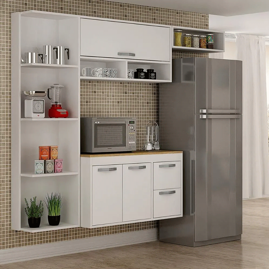 Armário de Cozinha Salleto Esmeralda 3 Portas 2 Gavetas