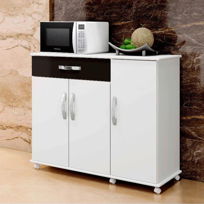 Balcão de Cozinha Arte Móveis Parati 3 Portas 1 Gaveta