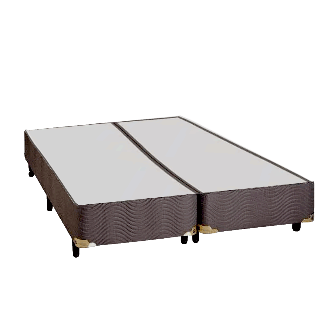 Base Para Cama Box Queen Sankonfort  Marrom