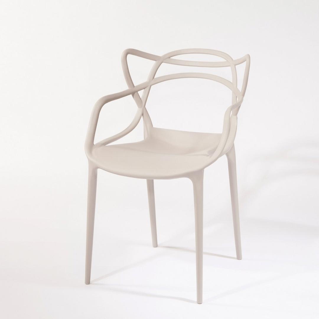 Kit Cadeira Mozzoni Allegra 2 Nude e 1 Preta