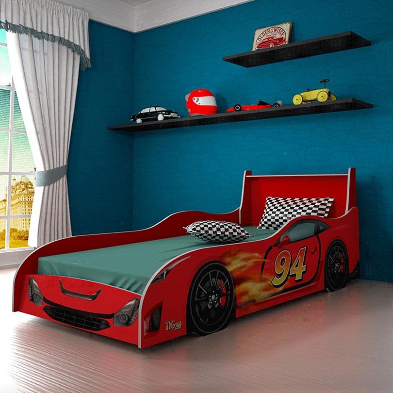 Cama Infantil Tigus Carro Vermelho