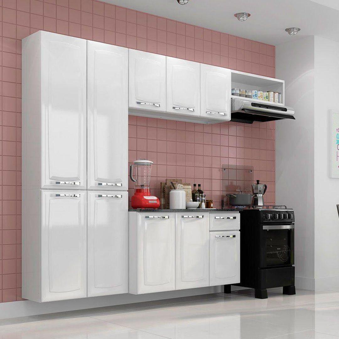 Armário de Cozinha Completa Itatiaia Amanda 10 Portas 1 Gaveta