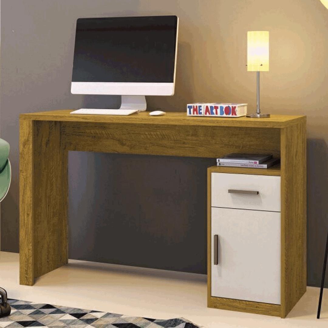 Escrivaninha Mavaular Luminus 1 Porta e 1 Gaveta