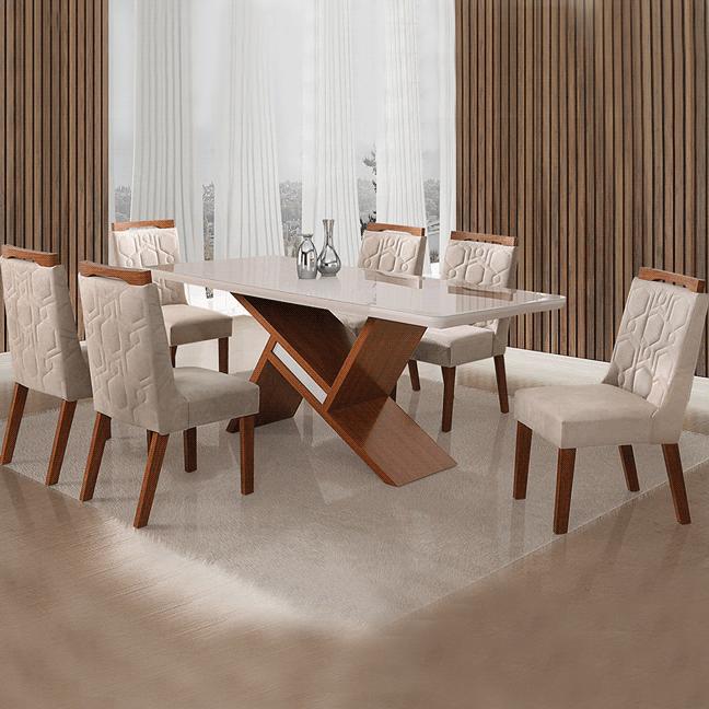 Sala de jantar Leifer Aghata 6 Cadeiras