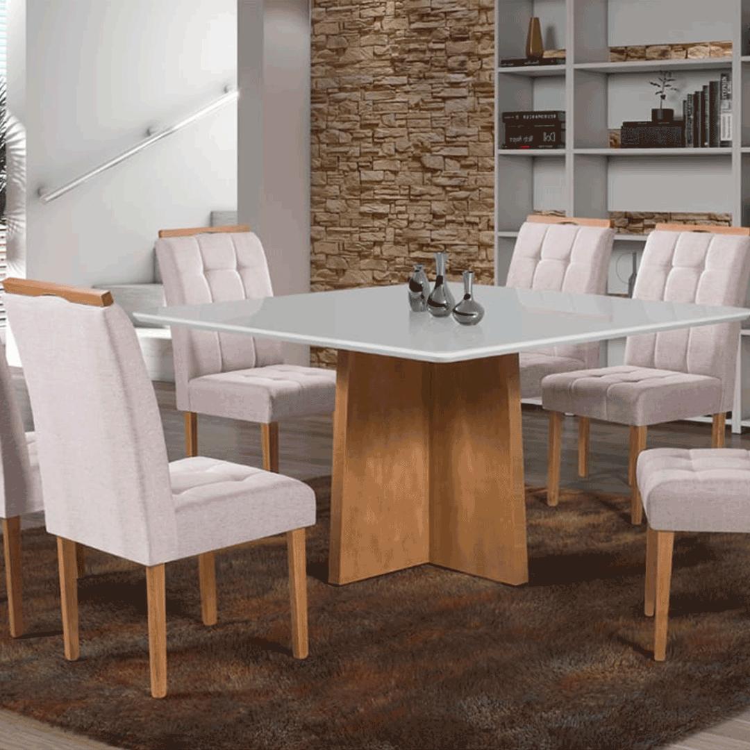 Sala de Jantar Alice 6 Cadeiras Imbuia
