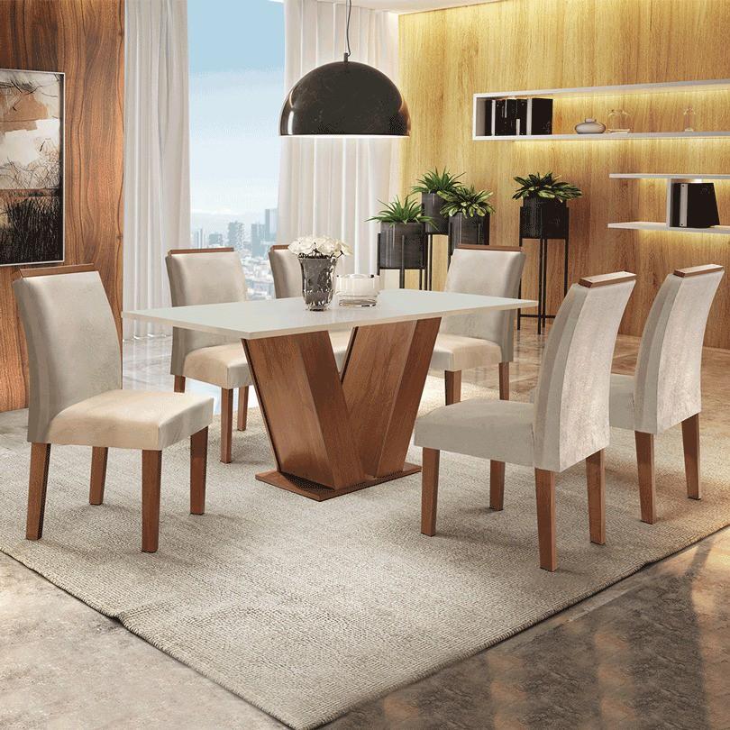 Sala de Jantar Cel Móveis Classic 6 cadeiras