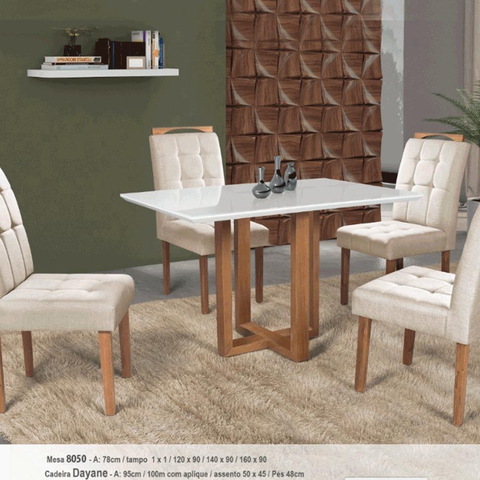 Sala de Jantar RV 8050 4 Cadeiras