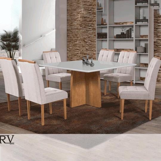 Sala de Jantar RV Alice 6 Cadeiras