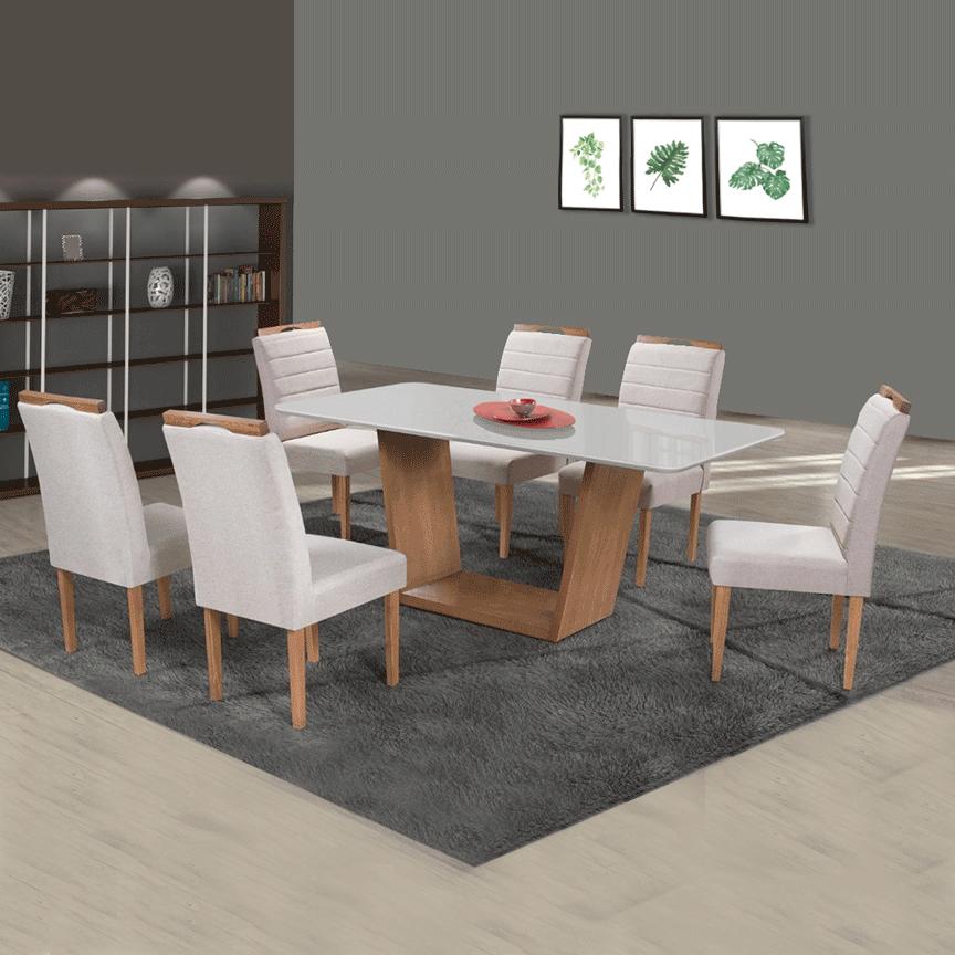 Sala de Jantar RV Malu 6 Cadeiras