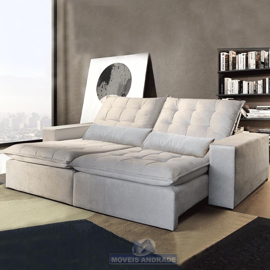 Sofá Retrátil e Reclinável Ferreirinha Confort 2,50