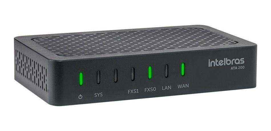 Adaptador VoIP para telefones analógicos Intelbras ATA 200
