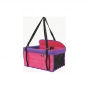 Assento Para Carro Para Cães e Gatos - 42X25X31 - Rosa/Violeta
