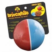 Brinquedo Brincalhão Crazy Ball Bola Petisqueira - Vermelho e Azul