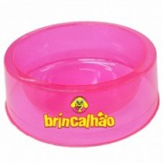 Comedouro Glitter Cristal Rosa 300 ml