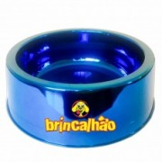 Comedouro Metalizado Azul 300ml
