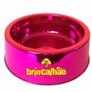 Comedouro Metalizado Rosa 1900 ml