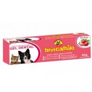Gel Dental Brincalhão para Cães e Gatos Sabor Morango - 60g