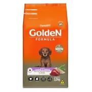 Ração Golden Fórmula Mini Bits Para Cães Filhotes Raças Pequenas Sabor Carne e Arroz 1 kg