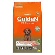 Ração Golden Fórmula Mini Bits Para Cães Filhotes Raças Pequenas Sabor Frango e Arroz 3 kg