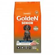 Ração Golden Fórmula Mini Bits Senior para Cães Adultos de Pequeno Porte Sabor Frango e Arroz 10,1 kg