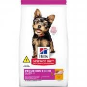 Ração Hill's Science Diet Cães Filhotes Pequenos e Mini 800grs