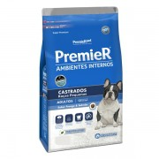 Ração Premier Ambientes Internos para Cães Adultos Castrados Sabor Frango e Salmão 1 kg