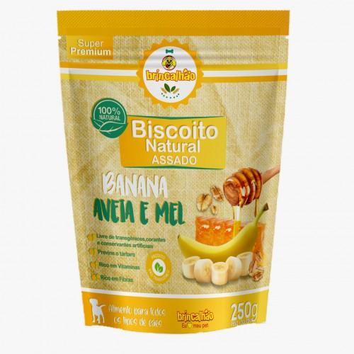 Biscoito Brincalhão Banana, Mel e Aveia - 250g