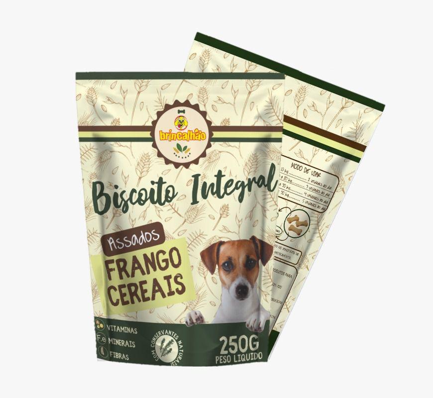 Biscoito Brincalhão Integral Frango Cereais  - 250g