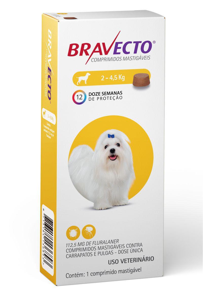 Bravecto 112,5 Mg de 2 Ate 4 Kg