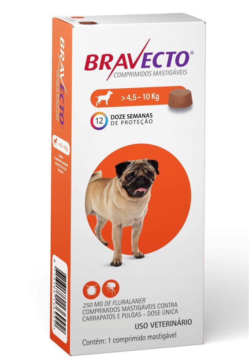 Bravecto 250 Mg 4,5 A 10 Kg