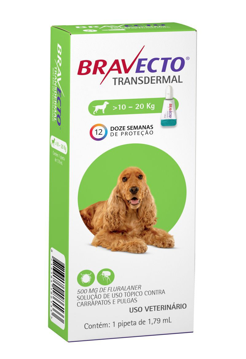 Bravecto Transdermal cães 500mg 10 a 20 kgs - MSD