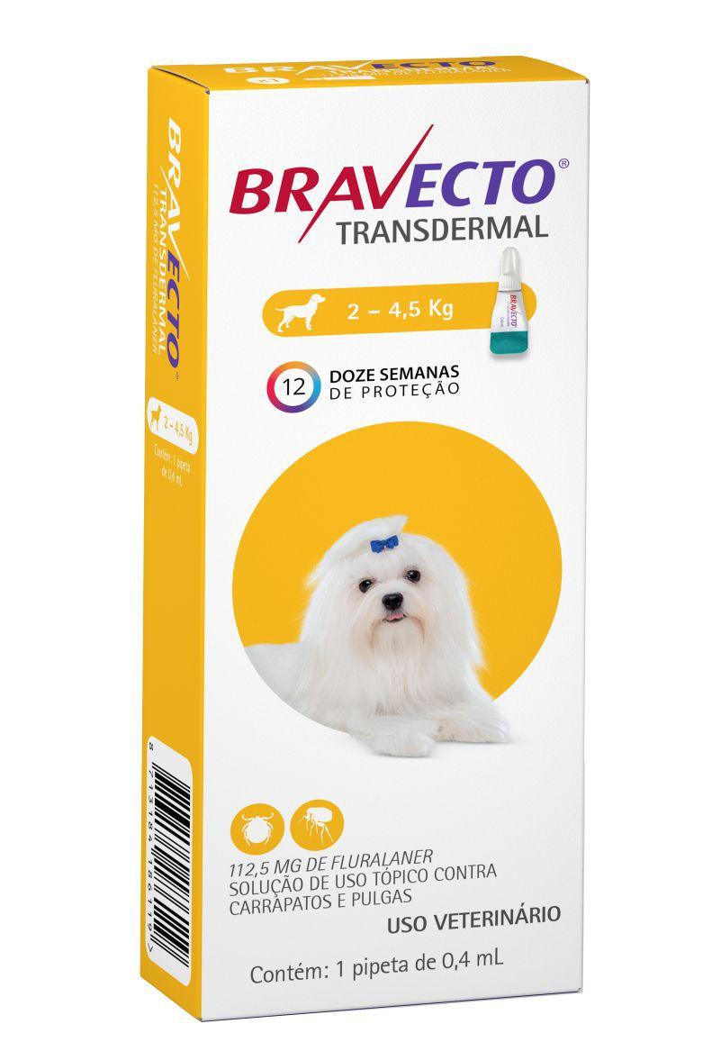 Bravecto Transdermal cães112mg 2 a 4,5kg- MSD