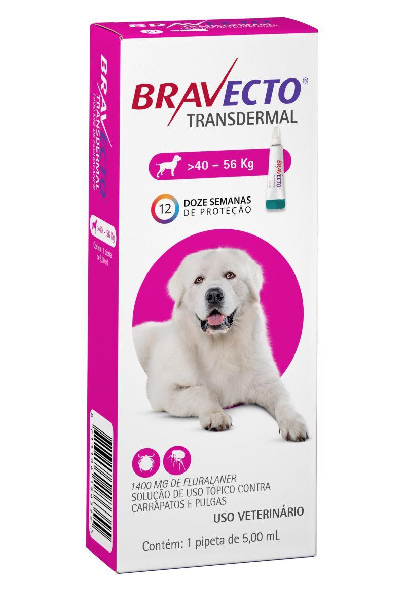 Bravecto Transdermal cães 1400mg 40 a 56 kgs- MSD