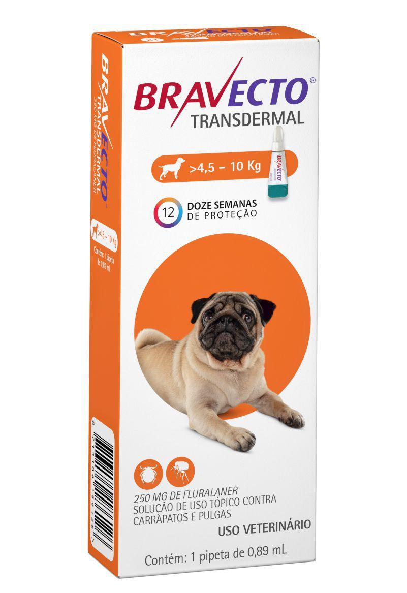 Bravecto Transdermal cães 250mg 4,5 a 10 kgs- MSD