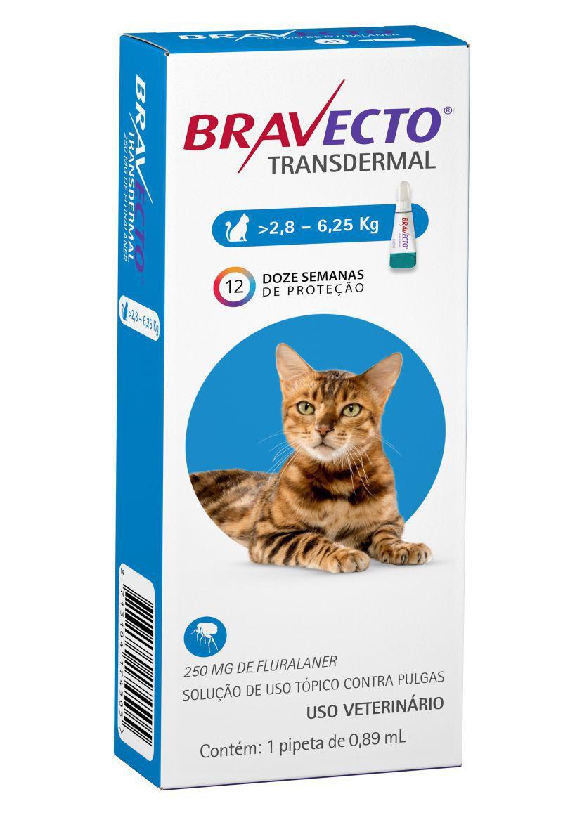 Bravecto Transdermal gatos 250mg 2,8 a 6,250 kgs - MSD