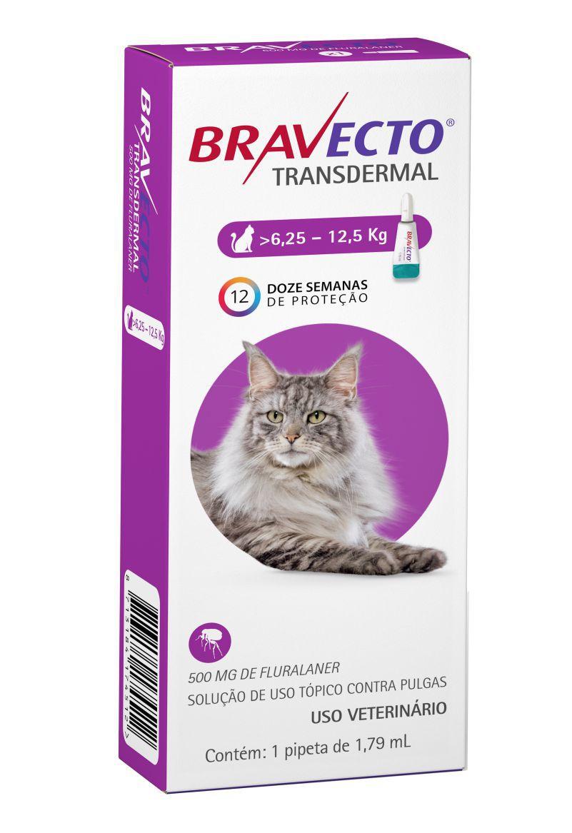 Bravecto Transdermal gatos 500mg 6,25 a 12 kgs- MSD
